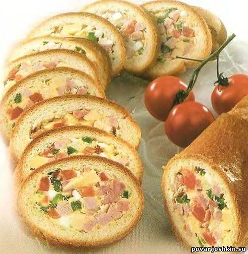 Бутерброд-рулет с мясом и сыром - Как приготовить вкусные ...